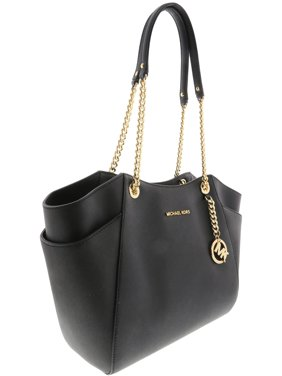b872a684a486 Product Image Michael Kors Jet Set Travel Large Chain Shoulder Tote - Black