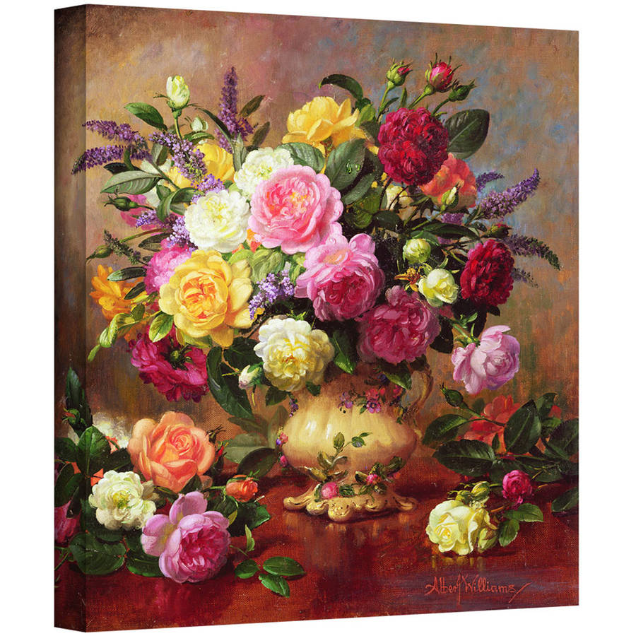 """Albert Williams """"Roses from a Victorian Garden"""" Gallery-wrapped Canvas Art"""