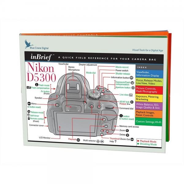 Blue Crane zBC558 Nikon D5300 InBrief Laminated Reference Card by Blue Crane Digital (Multicolored)