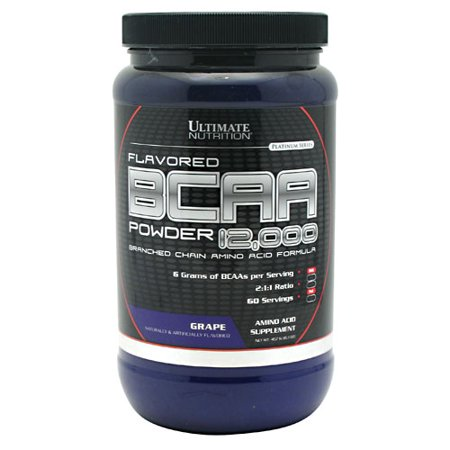 Ultimate Nutrition Flavored BCAA 12,000 Powder - Amino Acid Supplement for Muscle Building and Recovery, Grape, 60