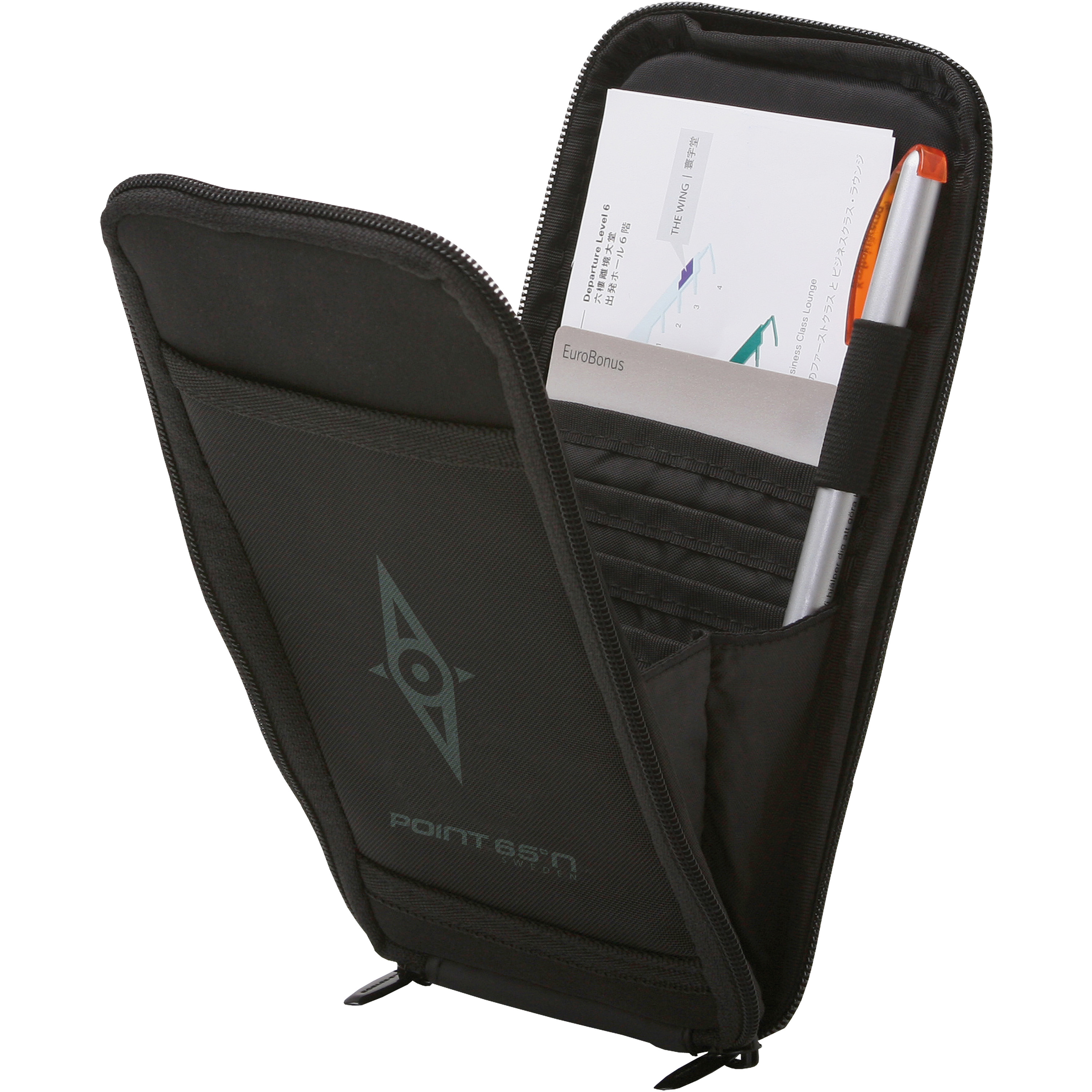 Point 65 Carrying Case For Passport, Credit Card, Pen, Ticket, Boarding Pass - Nylon, Neoprene - Point 65 Logo (000000500049)