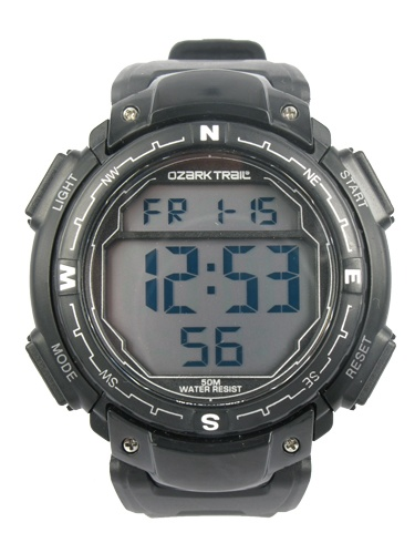 Ozark Trail Black Digital Watch with black dial