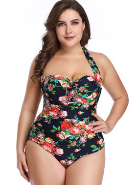 43044197f11e4 Product Image Women Ladies Girls One-piece Plus Size Swimsuit Swimwear Deep  V Floral Print Beachwear Monokinis