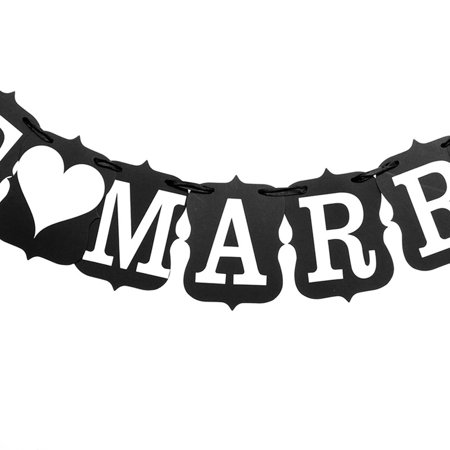 Creativity JUST MARRIED Bunting Wedding Garlands for Wedding Party Garland Banner Photo Booth Photography Props Prom Party - Prom Props