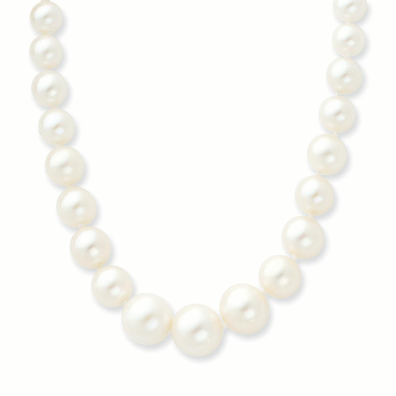 14k 4-9mm Graduated White Freshwater Cultured Pearl Necklace by CoutureJewelers