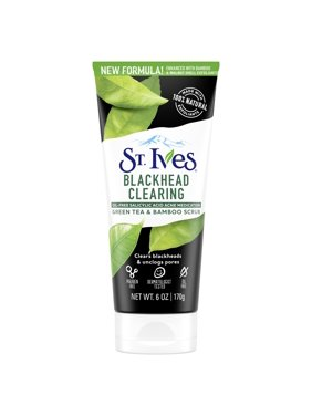 St. Ives Blackhead Clearing Face Scrub Green Tea, Unclog Pores, With Salicylic Acid, 100% Natural Exfoliants 6 oz