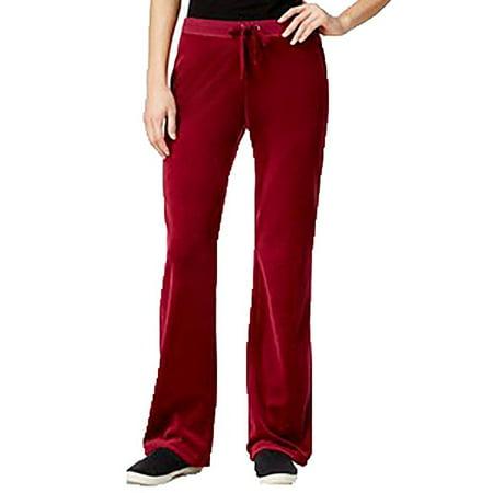 Hippie Rose Juniors Velour Flare-Leg Pant Spicy Sangria S](Rose Sangria)