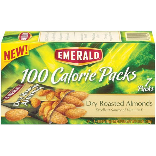 Emerald Dry Roasted Almonds 100 Calorie Packs, 7ct