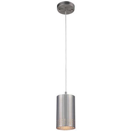 Nickel Beacon Pendant Lighting (Westinghouse 6101200 1 Light Brushed Nickel Adjustable Mini Pendant )