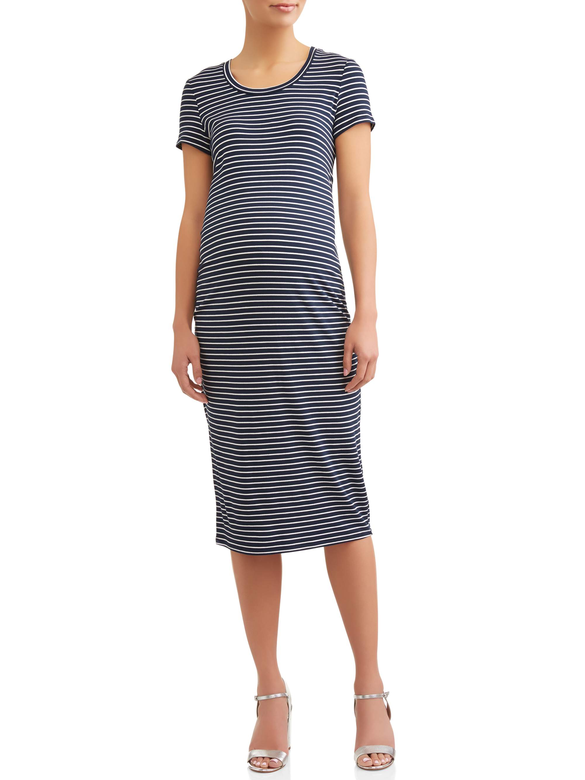 4eacc97986b4e Maternity Short Sleeve Dress - Walmart.com
