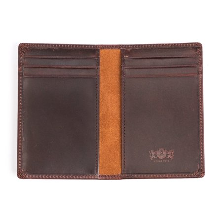 Antique Brown Leather (Avallone Men's Antique Front Pocket Wallet - Brown Handmade Leather - AV002)