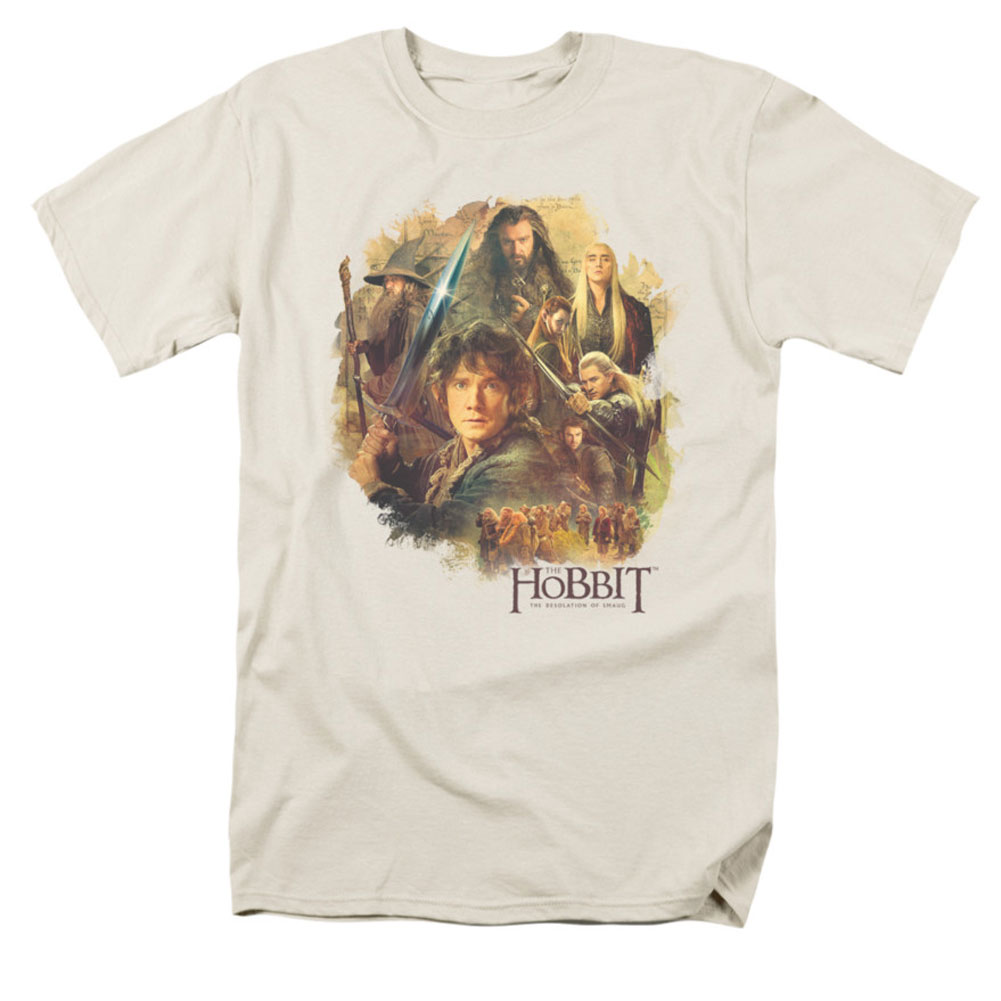 The Hobbit Men's  Collage T-shirt Off-White