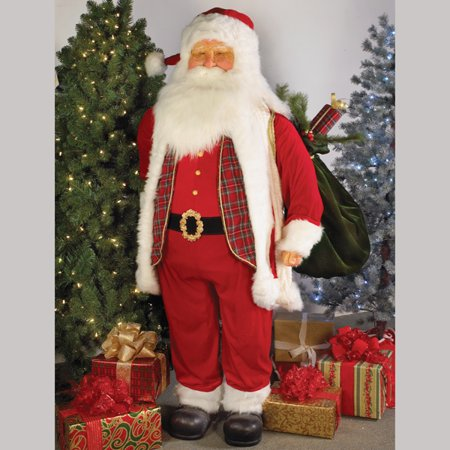 72 jacqueline kents faces of christmas life size traditional standing santa decoration