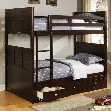 Coaster Furniture Jasper Twin Bunk Bed with Optional Three Drawer Under Bed Storage ()