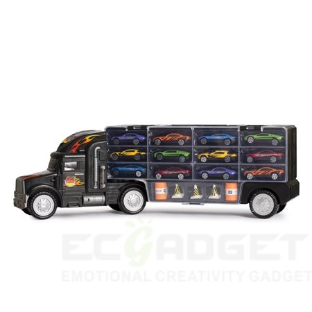 Big-Daddy Tractor Trailer Car Collection Case Carrier Transport Toy Truck For Kids Includes 12 Cars + Accessories - The Walking Dead Car Accessories
