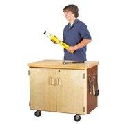 Diversified Woodcrafts Mobile Series 34'' H x 36'' W x 24'' D Locking Storage Cabinet