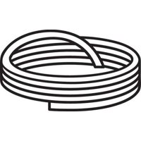 CS HYDE G15-TB-.062-25 Cord Stock, White, 25 ft.L, PTFE, 2900 psi