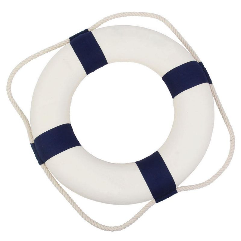 Welcome Aboard Nautical Life Lifebuoy Ring Boat Wall Hanging Home Decoration YAN