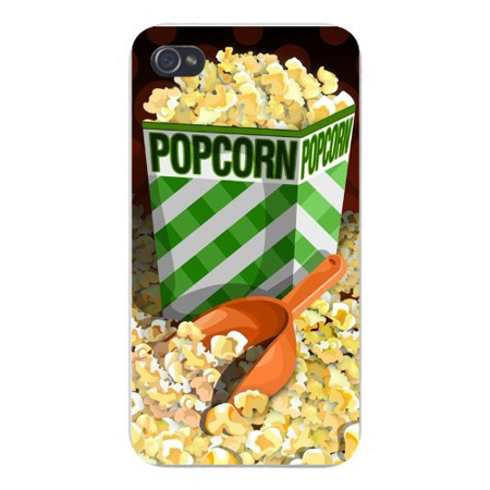 Apple Iphone Custom Case 4 4s White Plastic Snap on - Movie Popcorn Bucket & Scoop](Plastic Popcorn Buckets)
