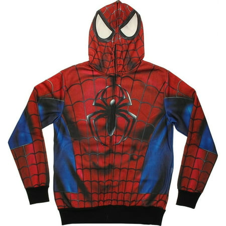 Spider-Man - Real Classic All Over Costume Zip - Classic Spiderman Suit