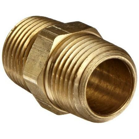 0.5' Standard Brass Nipple (Anderson Metals 56122 Brass Pipe Fitting, Hex Nipple, 1/2' x 1/2' NPT Male Pipe)
