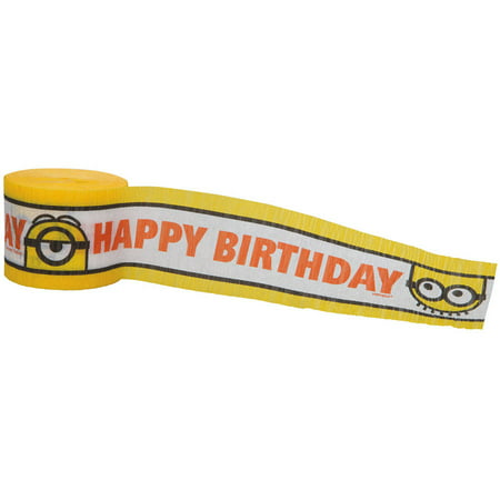Crepe Paper Despicable Me Minions Party Streamer, 30'