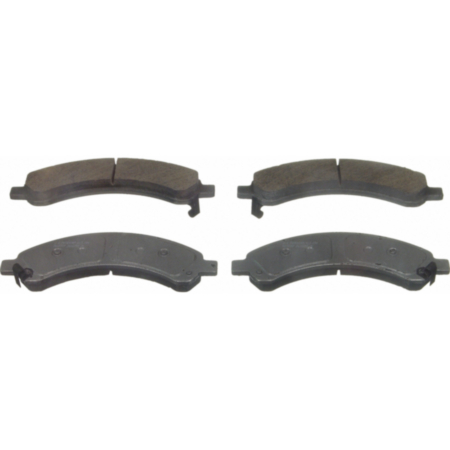 Front Wagner ThermoQuiet QC1202 Ceramic Disc Pad Set With Installation Hardware