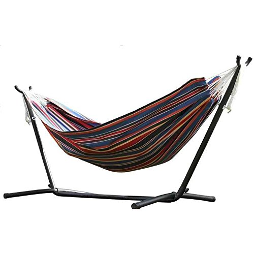 VIVERE COMBO - DOUBLE POLYESTER HAMMOCK WITH STAND (9FT)