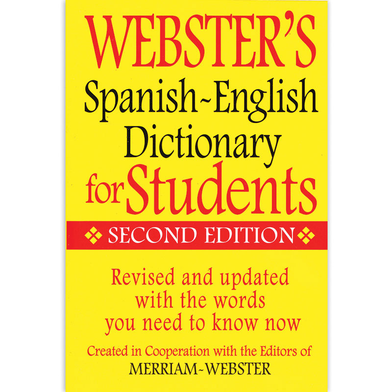 (6 EA) WEBSTERS SPANISH ENGLISH DICTIONARY FOR STUDENTS