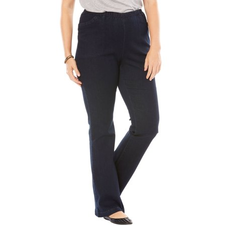Woman Within Plus Size Tall Bootcut Fineline Jean