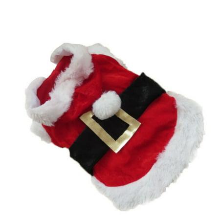 Pet Dogs Christmas Santa Claus Coat Clothes Winter Warm Cute Coat for (Santa Paws Dog Coat)