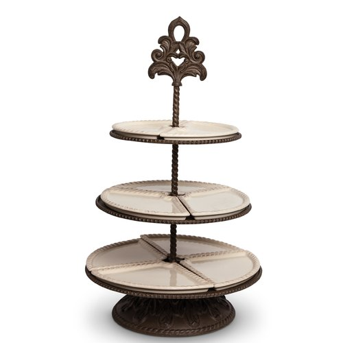 The GG Collection 3-Tiered Server and Metal Base Tiered Stand