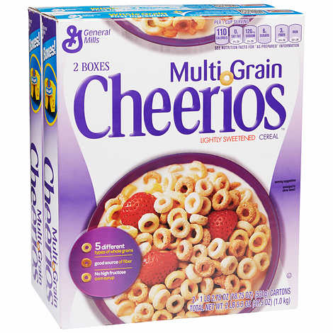 General Mills Multi-Grain Cheerios 18.75 oz, 2-count