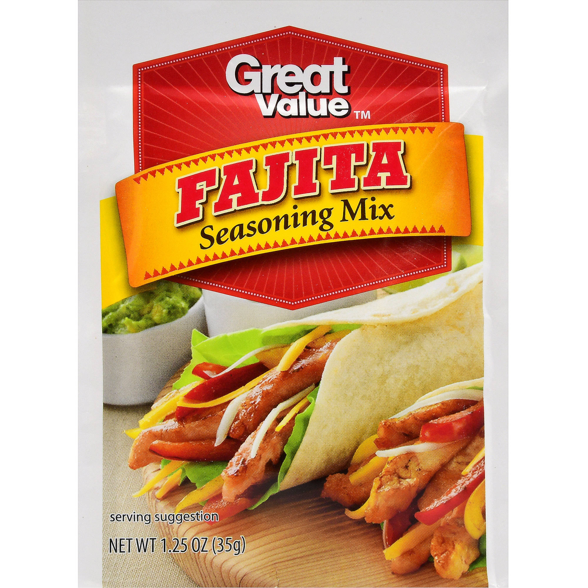 (4 Pack) Great Value Fajita Seasoning Mix, 1.25 oz