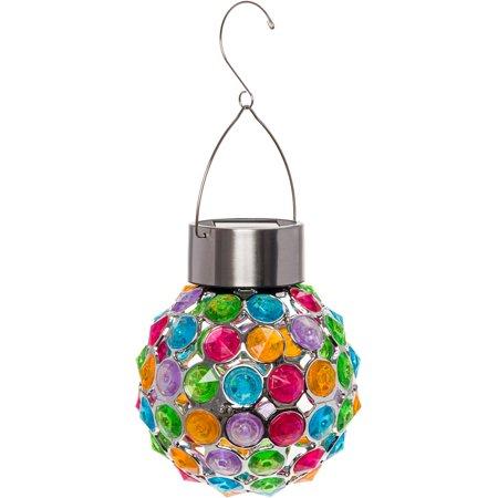GreenLighting Outdoor Solar Hanging Lights Decorative Ball Lantern