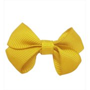 CoverYourHair 60600 Yellow Small Solid Bow Hair Clip