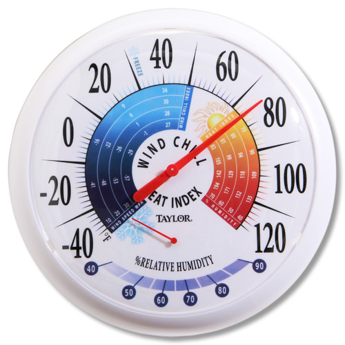 Taylor Wind Chill/Heat Index Thermometer and Hygrometer (Set of 4)