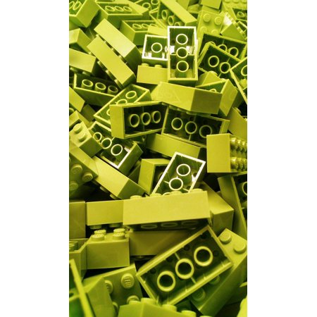 Laminated Poster Lego Colorful Building Block Color Blocks Green Poster Print 24 x 36