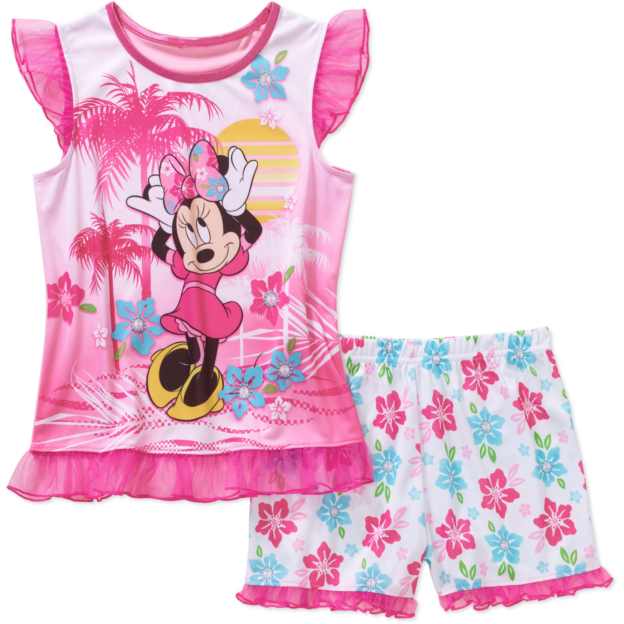 Tank Sleep Top and Shorts 2 Piece Pajma Set