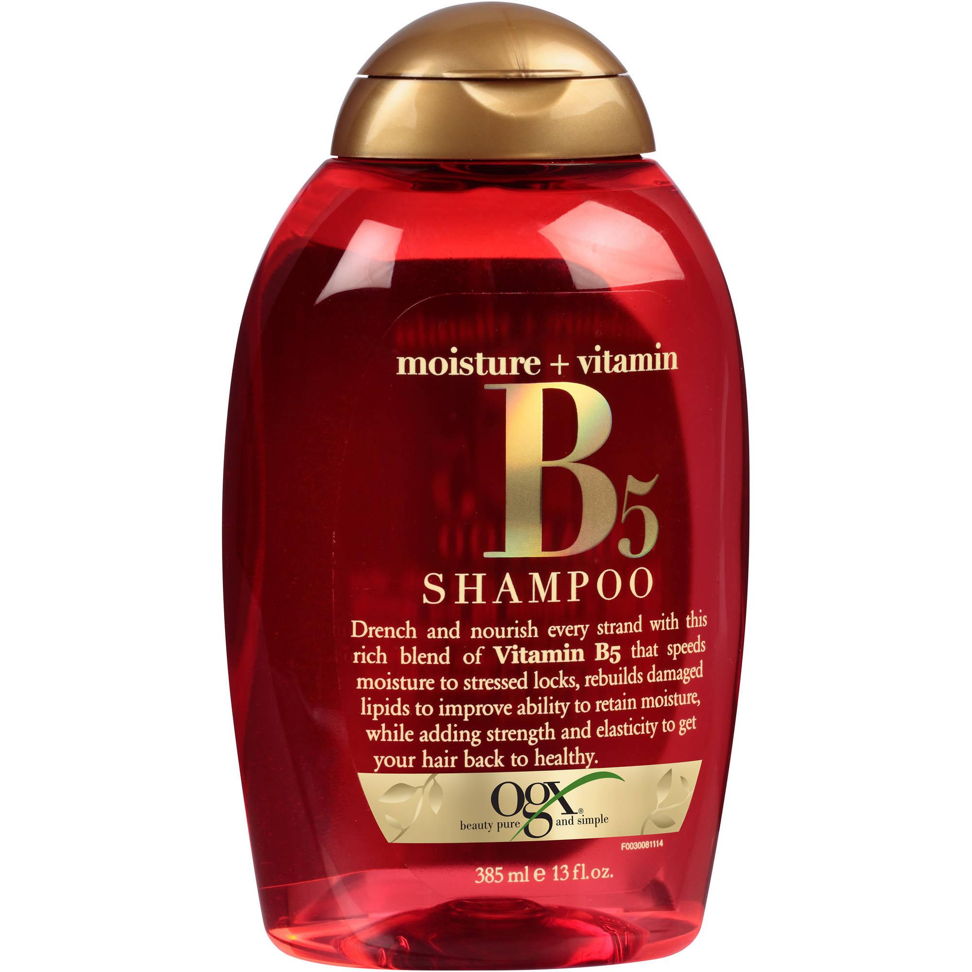 OGX Moisture + Vitamin B5 Shampoo, 13 fl oz