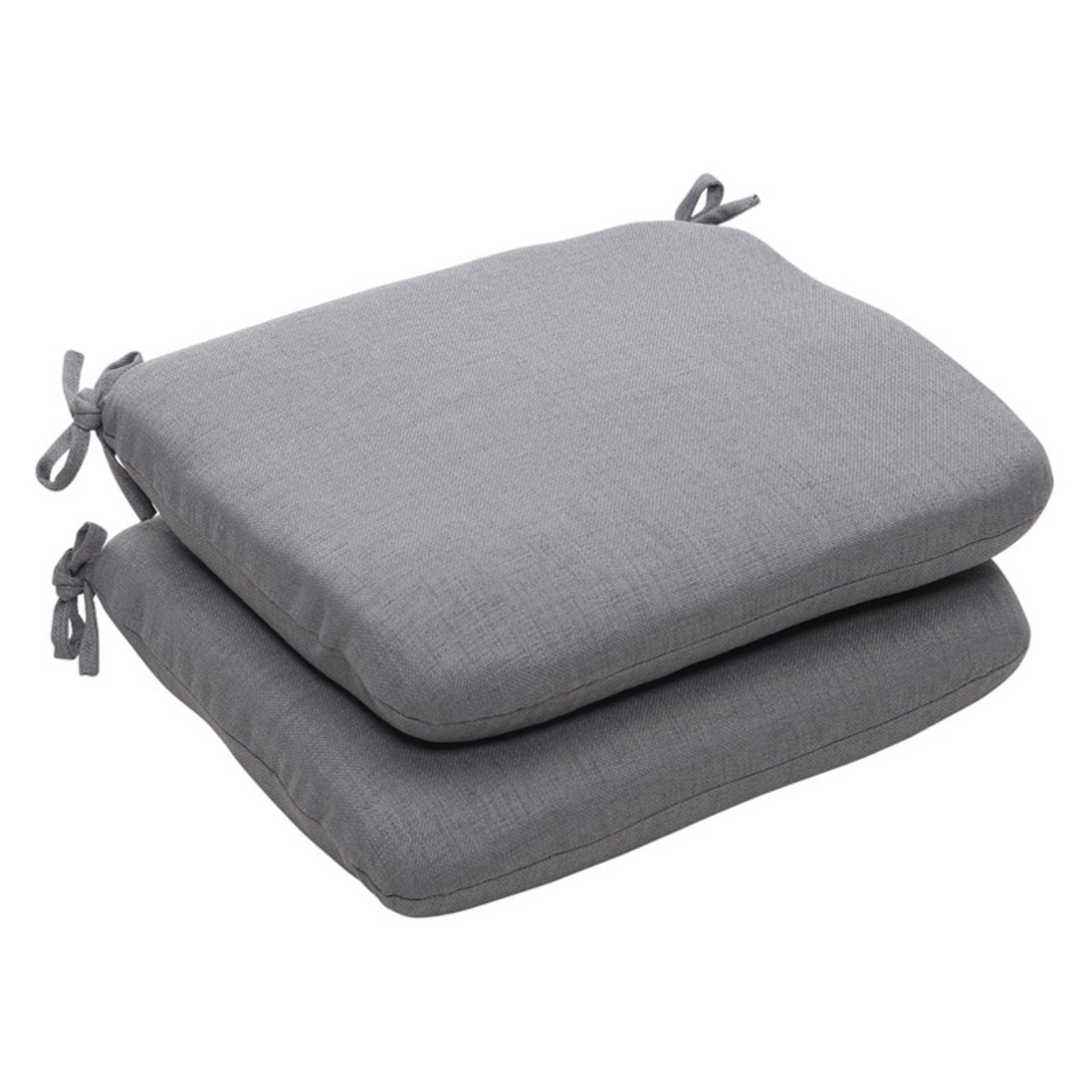 Pillow Perfect Outdoor Solid Seat Cushion with Ties - 18....