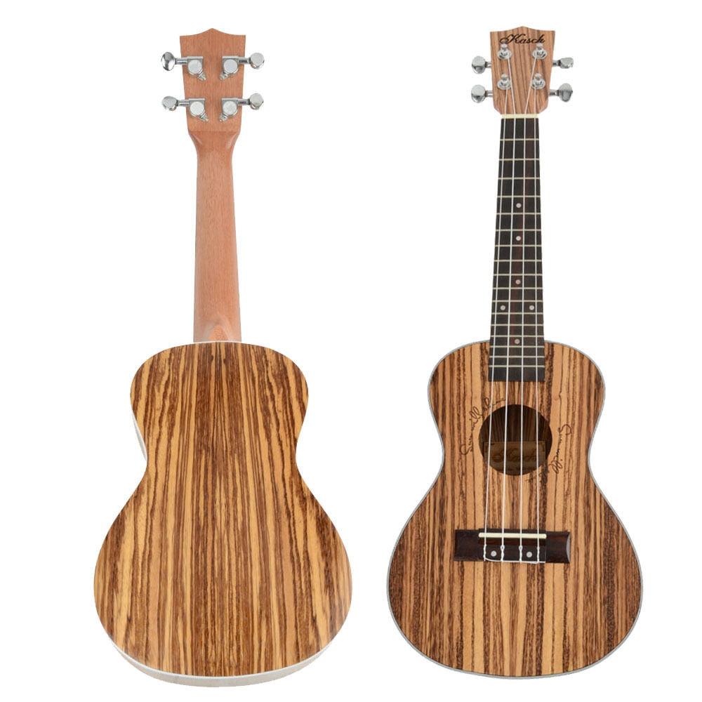 "Ktaxon 23"" Professional Exquisite Zebra Wood Concert Ukulele Wood Color"
