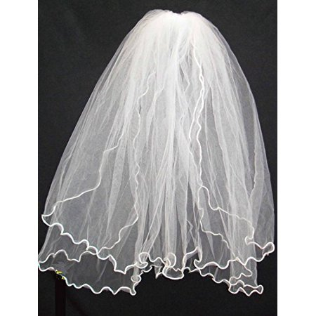 Communion Comb (Girls 1st Communion Wedding White Veil 2 Layers Tulle Headpiece with Comb 30
