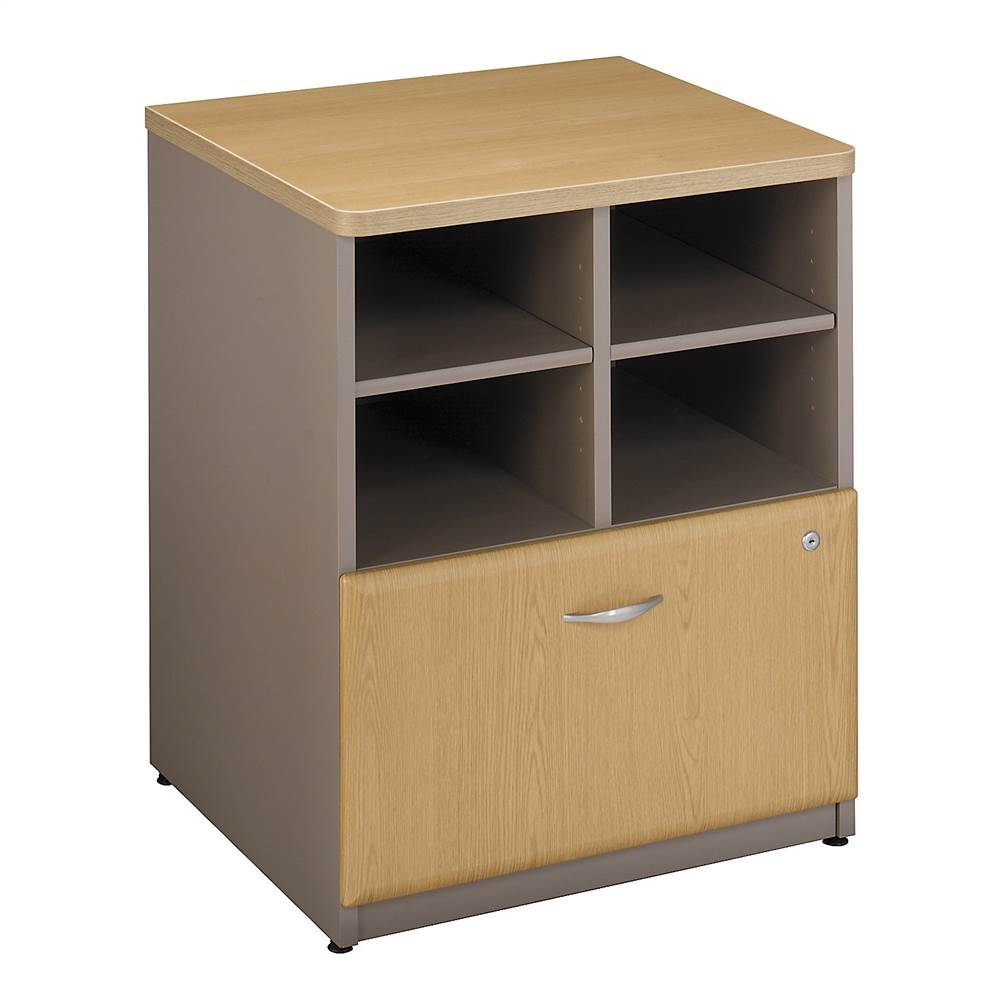 24 in. Storage Unit in Sage w File Cabinet Drawer - Series A