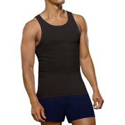 Men's Black and Gray A-Shirts, 4 Pack