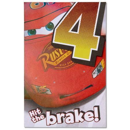Disney Cars 4th Birthday Card With Foil