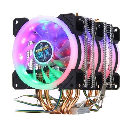 RGB CPU Air Cooler 4 Heatpipes Silent, 3Pcs 90mm RGB Fans For LGA 775/1155/1156/1150/1366