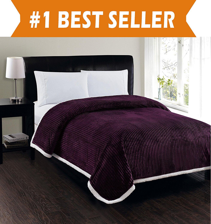 Elegant Comfort Best Softest Luxury Micro Sherpa Blanket