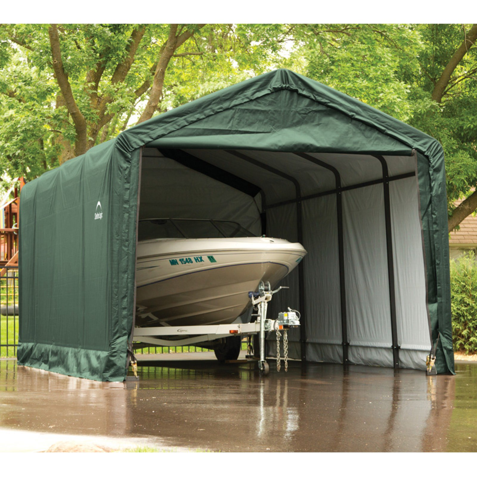 ShelterLogic ShelterTube 12' x 20' x 11' Peak Style Garage/Shelter, Green