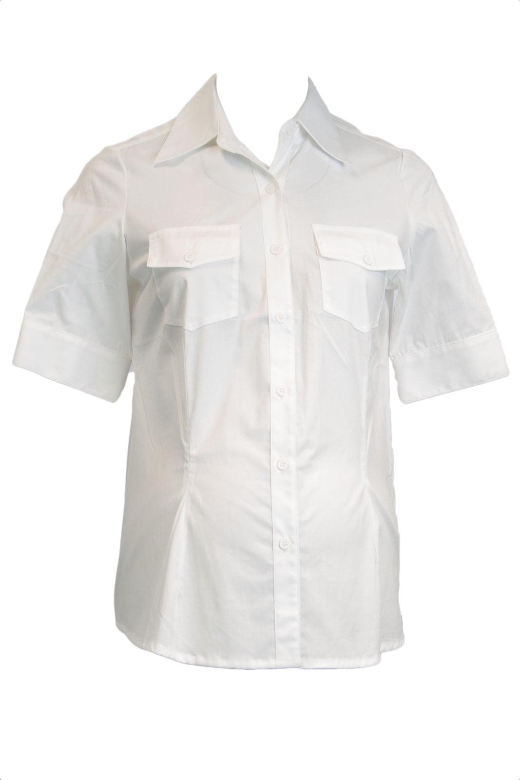 OLIAN Maternity Women's Button Down Short Sleeve Blouse X-Small White